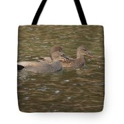 Gadwall Pair Tote Bag