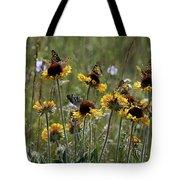 Gaillardia/blanket Flower Butterflies Tote Bag by Roger Snyder