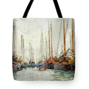 Gaily Coloured Fishing Vessels Tote Bag