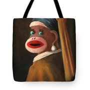 Gal With A Pearl Earring Tote Bag
