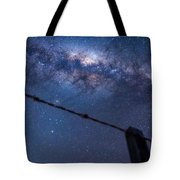 Galactic Kiwi On A Barbed Wire Tote Bag