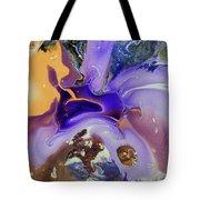 Galactic Portal. Abstract Fluid Acrylic Pour Tote Bag