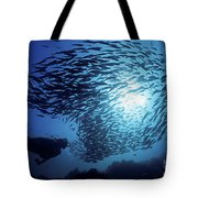 Galapagos Islands Diver Tote Bag by Dave Fleetham - Printscapes