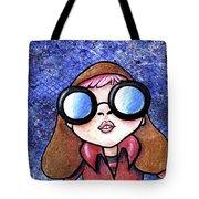 Galaxy Goggles Girl Tote Bag