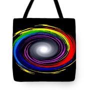 Galaxy In Chakra Colors Tote Bag