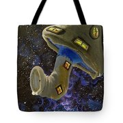 Button In Space Tote Bag