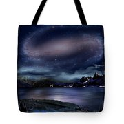 Galaxy Rise Tote Bag