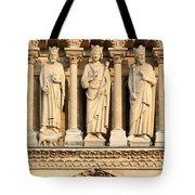 Galerie Des Rois Catherdrale Notre Dame De Paris France Tote Bag