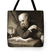 Galileo With Compass And Diagrams Tote Bag