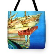 Galleon On The Reef 2 Filtered Tote Bag