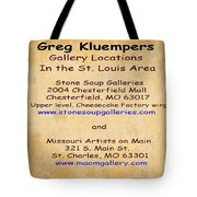 Gallery Locations In The St. Louis Area Tote Bag