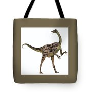 Gallimimus On White Tote Bag