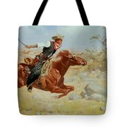 Galloping Horseman Tote Bag