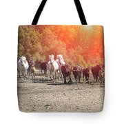 Galloping In Camargue Tote Bag