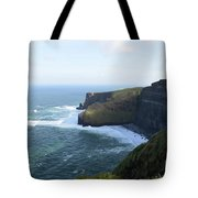 Galway Bay And Towering Cliffs Of Moher In Ireland Tote Bag