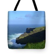 Galway Bay Churning Below The Cliffs Of Moher Tote Bag