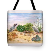 Gambel Quails Day In The Life Tote Bag