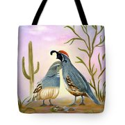Gambel Quails Friends Forever Tote Bag
