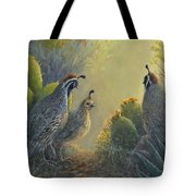 Gambel's Quail - Early Light Tote Bag