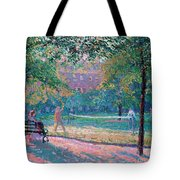 Game Of Tennis Tote Bag by Spencer Frederick Gore
