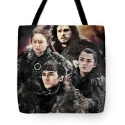 Game Of Thrones.the Last Of Stark. Tote Bag