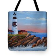 Gamecock Lighthouse Tote Bag