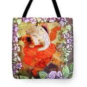 Ganesh In Dancing Pose With Floral Backdrop. Tote Bag