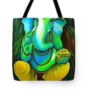 Ganesh In Garden Tote Bag