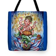 Ganesha Dancing And Playing Mridang Tote Bag