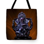 Ganesha With Fire Background Tote Bag