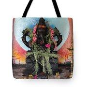 Ganesha With Pink Flowers, Valparai Tote Bag