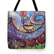Ganesha With Poppies Tote Bag