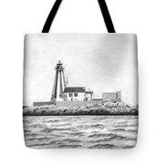 Gannet Rock Lighthouse Tote Bag