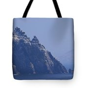 Gannets Fly Around Little Skellig, County Kerry, Ireland Tote Bag
