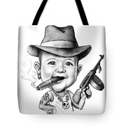 Ganster Child Caricature Tote Bag