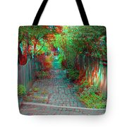 Garden Alley - Use Red-cyan 3d Glasses Tote Bag
