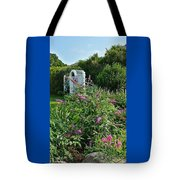 Old Garden Beach Flowers Tote Bag