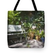 Garden Bench Tote Bag