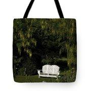 Garden Bench White Tote Bag