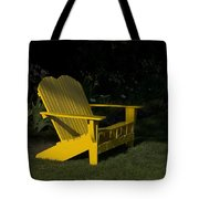 Garden Bench Yellow Tote Bag