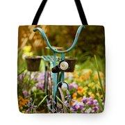 Garden Bicycle Tote Bag