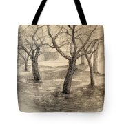 Garden By The Church Tote Bag