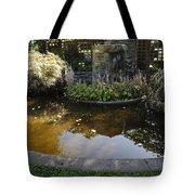 Garden Fountain Pond Tote Bag