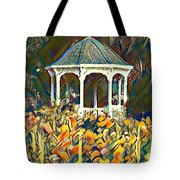 Garden Gazebo Watercolor Tote Bag