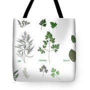 Garden Herbs Tote Bag
