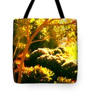 Garden Landscape On A Sunny Day Tote Bag