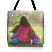 Garden Mother Little Sis Blonde Tote Bag