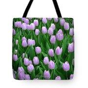 Garden Of Pink Tulips Tote Bag