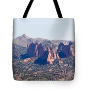 Garden Of The Gods And Colorado Springs Tote Bag