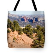 Garden Of The Gods And Springs West Side Tote Bag